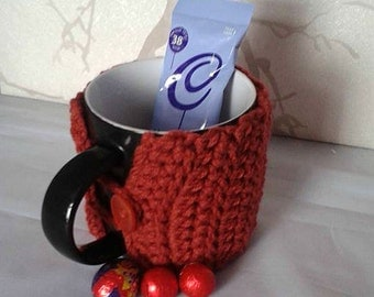 Crochet Cup Cosy, Mug Gift Set, Get Well Soon, Drink Accessory, Festival Accessory, Gift for him, Gift for Her, Coffee Sleeve, mug jacket