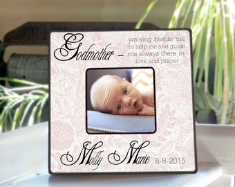 godmother frame godparents frame baptism gift christening frame personalized godmother frame desktop photo frame