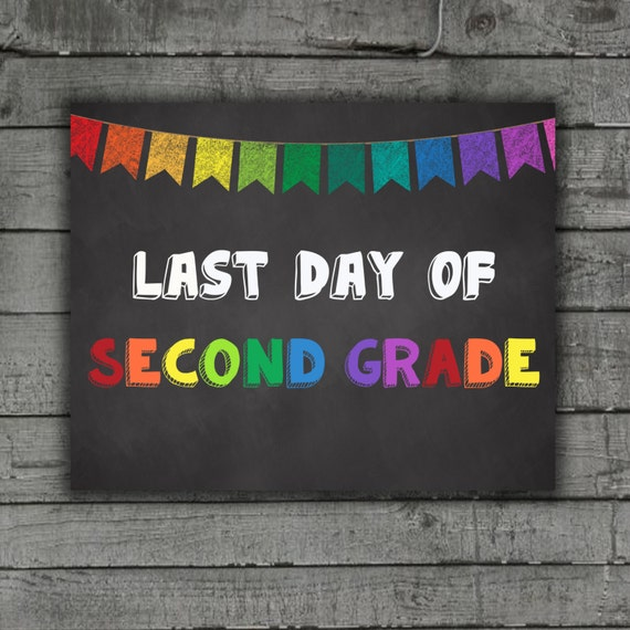 This is an image of Monster Last Day of 2nd Grade Printable