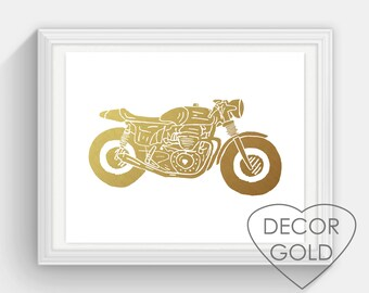 Motorcycle bedroom etsy for Motorcycle decorations home