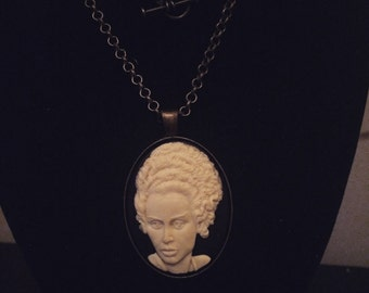 Frankensteins Bride Cameo Necklace