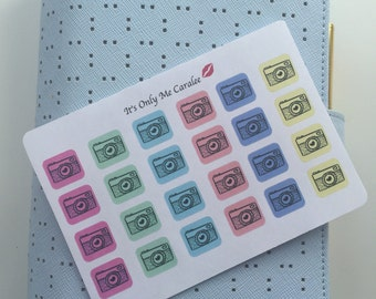 24 X Small Camera Stickers