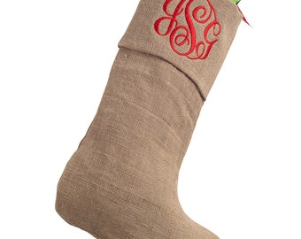 Personalized Burlap Stocking