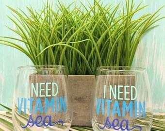 I need vitamin sea wine glass