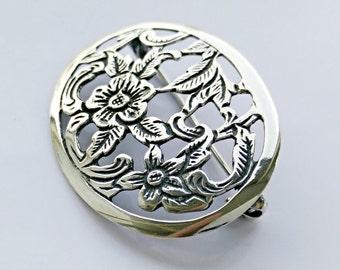 Small sterling silver flower brooch, brooch, handmade brooch, Silver brooch, sterling brooch, vintage brooch,flower brooch,, jewelry