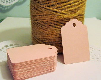 20 Pink Wedding Tags - Price Tag - Place Cards - Merchandise Tag, Wedding Wish Tags - Bridal Showers - Favor Tags - Food Gift Tags