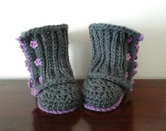 Boot baby crochet baby Booties 3-6 months