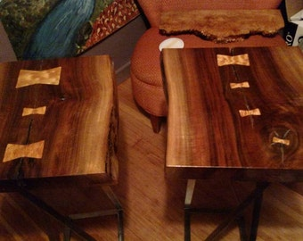 SOLD - Oregon Walnut Contemporary Occasional Tables