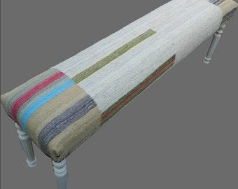 Kilim Covered Bench