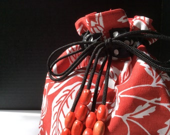 Red Draw String Bag