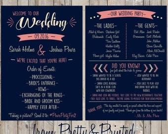 Customized Wedding Program