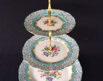 Royal Albert Enchantment three tiered Cake stand England
