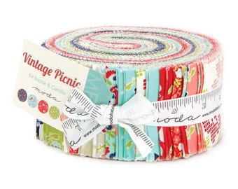 Vintage Picnic Jelly Roll by Bonnie & Camille for Moda 42 Piece Strip Set