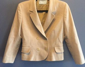 Vintage Cropped Camel Coat