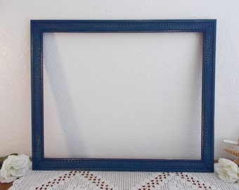 Large Navy Blue Picture Frame 16 x 20 Photo Decoration Rustic Shabby Chic Beach Cottage Coastal Seaside Tropical Island Nautical Home Decor