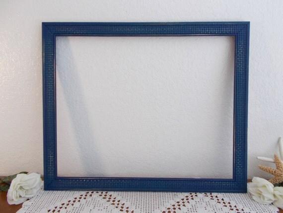 large navy blue picture frame 16 x 20 photo decoration rustic. Black Bedroom Furniture Sets. Home Design Ideas