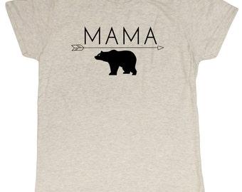 Ladies Mama Bear Funny Mom T-Shirt