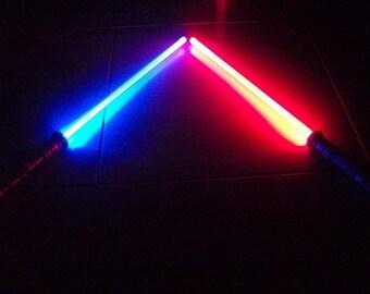 New Star Wars Sound FX Led Lightsaber Saber Light Sword Changes Color When Struck 2pcs Best Gift