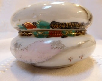 1924  Nippon Japanese Hand Painted Jewelry or Trinket/Ring/ Candy/Box/Jar 55.00