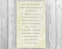 Couple's monogrammed gift; Personalized anniversary or wedding gift; A cord of 3 strands cannot be broken ; bible verse art print;