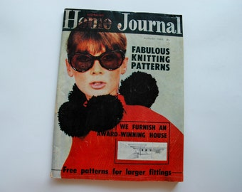 August 1965 Australian Home Journal Magazine with free patterns