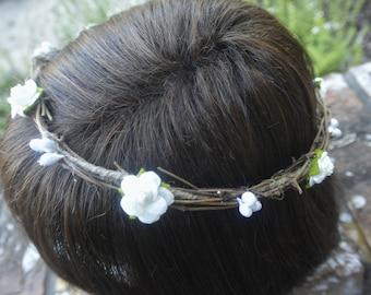 Ivory Twyne Flower Crown