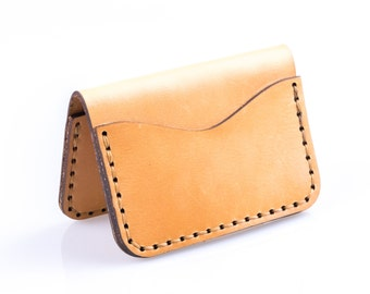 No. 2 Slim Wallet | Full Grain Vegetable Tanned Harness Leather