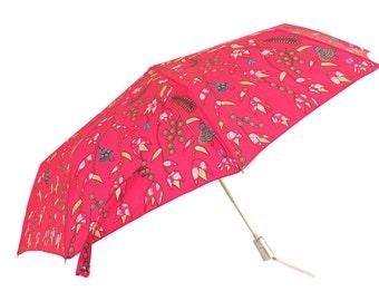 Umbrella folding opening auto - pink / red - purple river