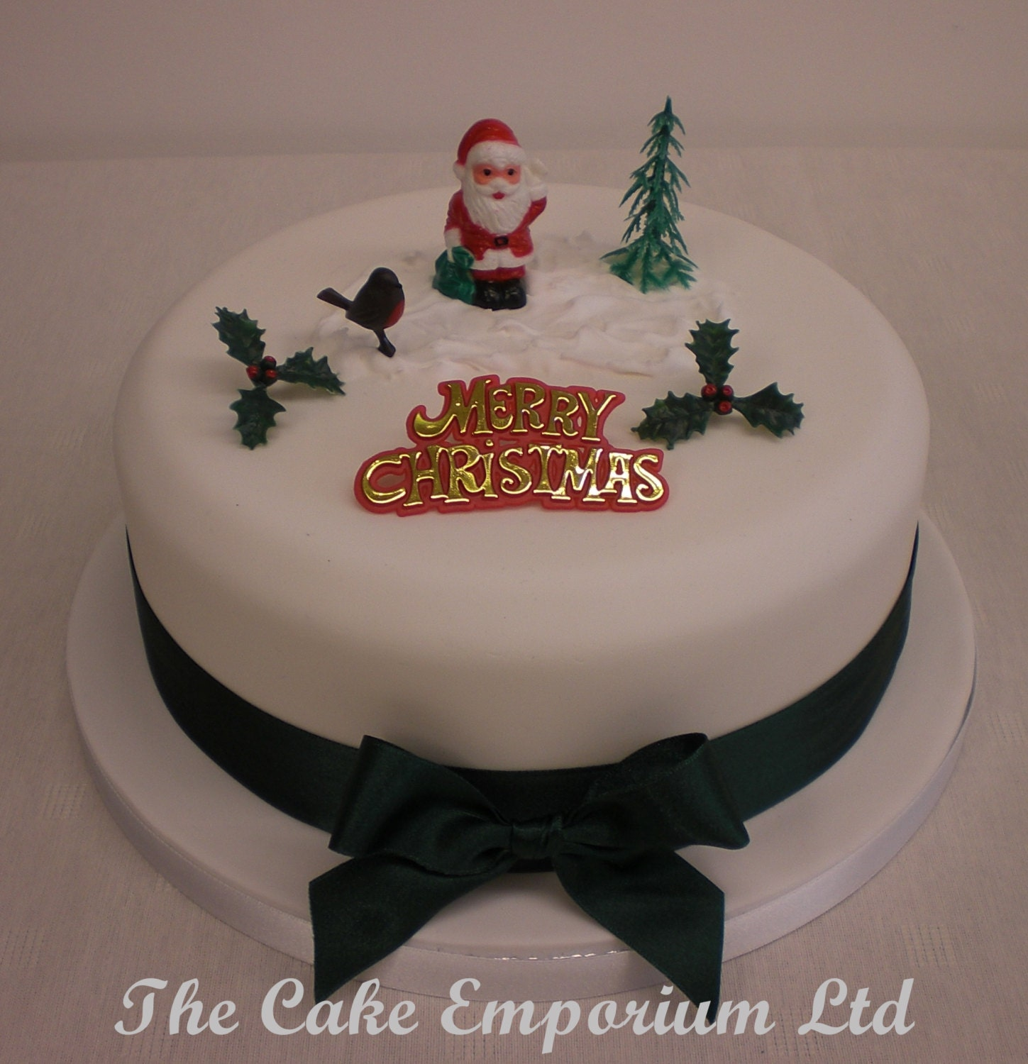 Etsy Christmas Cake Decorations : Santa / Father Christmas Cake Topper Decoration Pack from ...