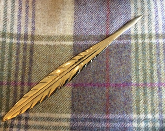 Vintage Brass Quill Feather Letter Opener