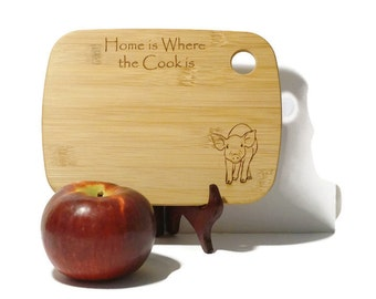 Cute Pig Cutting Board Pig Kitchen Decor Country Home Decor Farm Kitchen