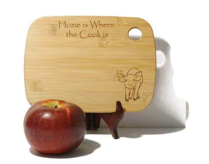 Cute pig cutting board pig kitchen decor country home decor Pig kitchen decor