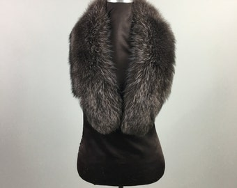 Luxury gift/  Charchoal  Fur  Collar  Women's/wedding or anniversary present