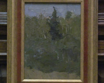 Twilight. Oil Painting. Landscape. Original.