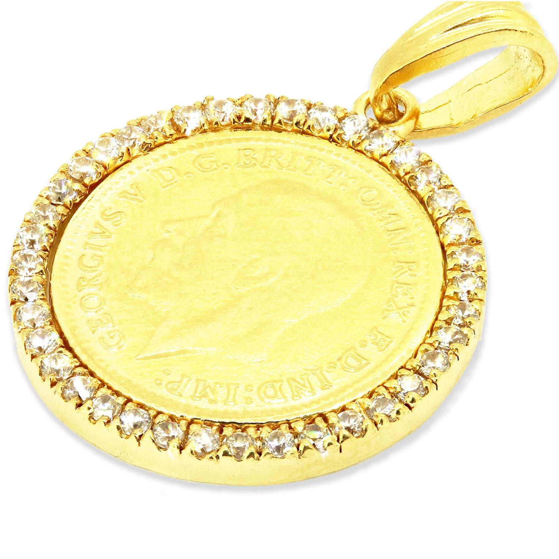 Gold Medallion Necklace Gold Coin Pendant Necklace Unique