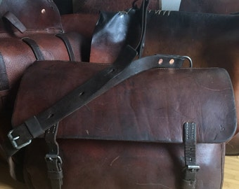 Leather Swiss Army Saddlebag Messenger Bag 1939