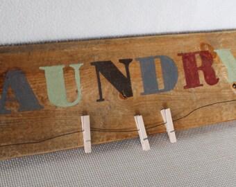 Laundry Wood Sign, Rustic Wall Art, Rustic Wood Sign, Rustic Home Decor, Wood Wall Art, Housewarming Gift, Wedding Gift, Rustic Wall Art