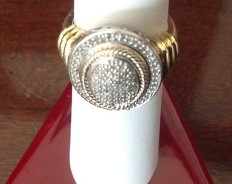 JWBR Pave Diamond Sterling Silver Ring...Size 5