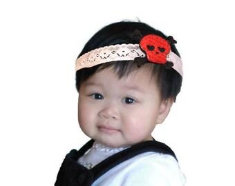 Sequin skull headband, soft pirate eye patch, kids pirate costume, baby halloween costume, toddler halloween costume, kids halloween costume