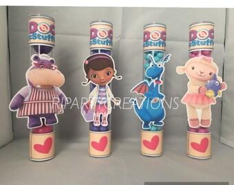 12 Doc Mcstuffin candy tubes