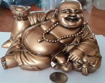 Golden Relaxing Happy  Buddha