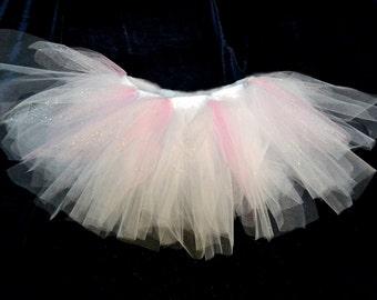 White, pink and brillant tulle TUTU
