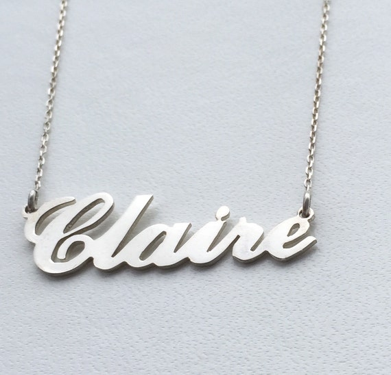 Personalised Carrie Style Name Necklace925 Sterling. 3ct Emerald. Medal Medallion. Dainty Bangles. American Flag Rings. 3 Stone Engagement Ring. 1 2 Carat Wedding Rings. Fashion Statement Necklace. Skinny Gold Chains