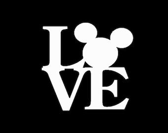 Mickey Love Vinyl Decal