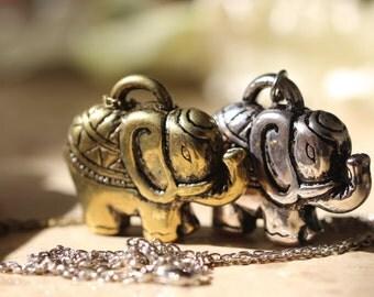 2pcs Lucky Elephant Necklace