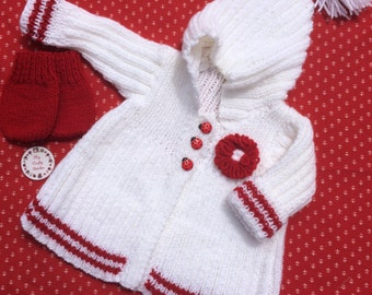 Baby's knitted coat