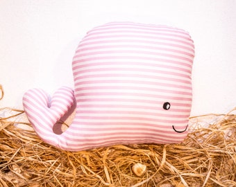 RYBKAVELE  Stuffed whale pink toy