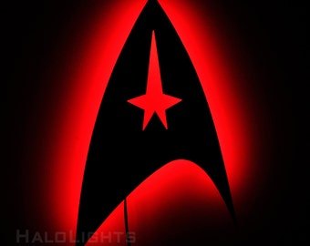 Lighted Star Trek Command Insignia Wall Sign