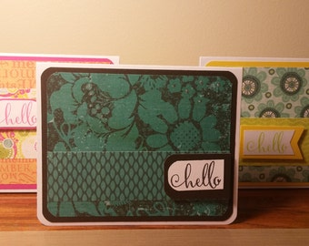 Hello Greeting Cards Set of 6