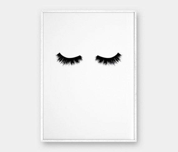 lashes wall art printable poster scandinavian poster. Black Bedroom Furniture Sets. Home Design Ideas